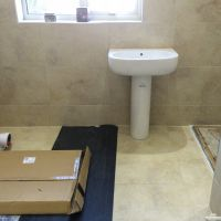 Fitting new bathroom suite