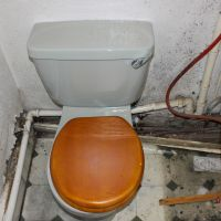 Old utility room toilet